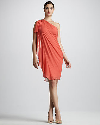 Notte by Marchesa One-Shoulder Draped Cocktail Dress