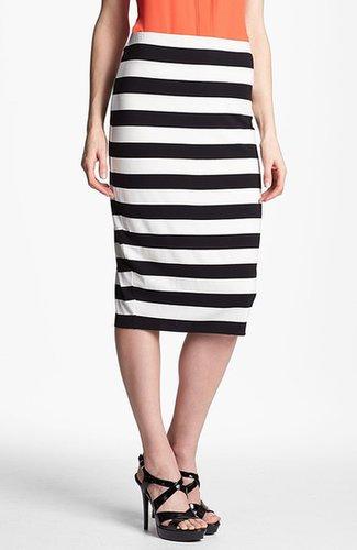 Vince Camuto Stripe Midi Tube Skirt