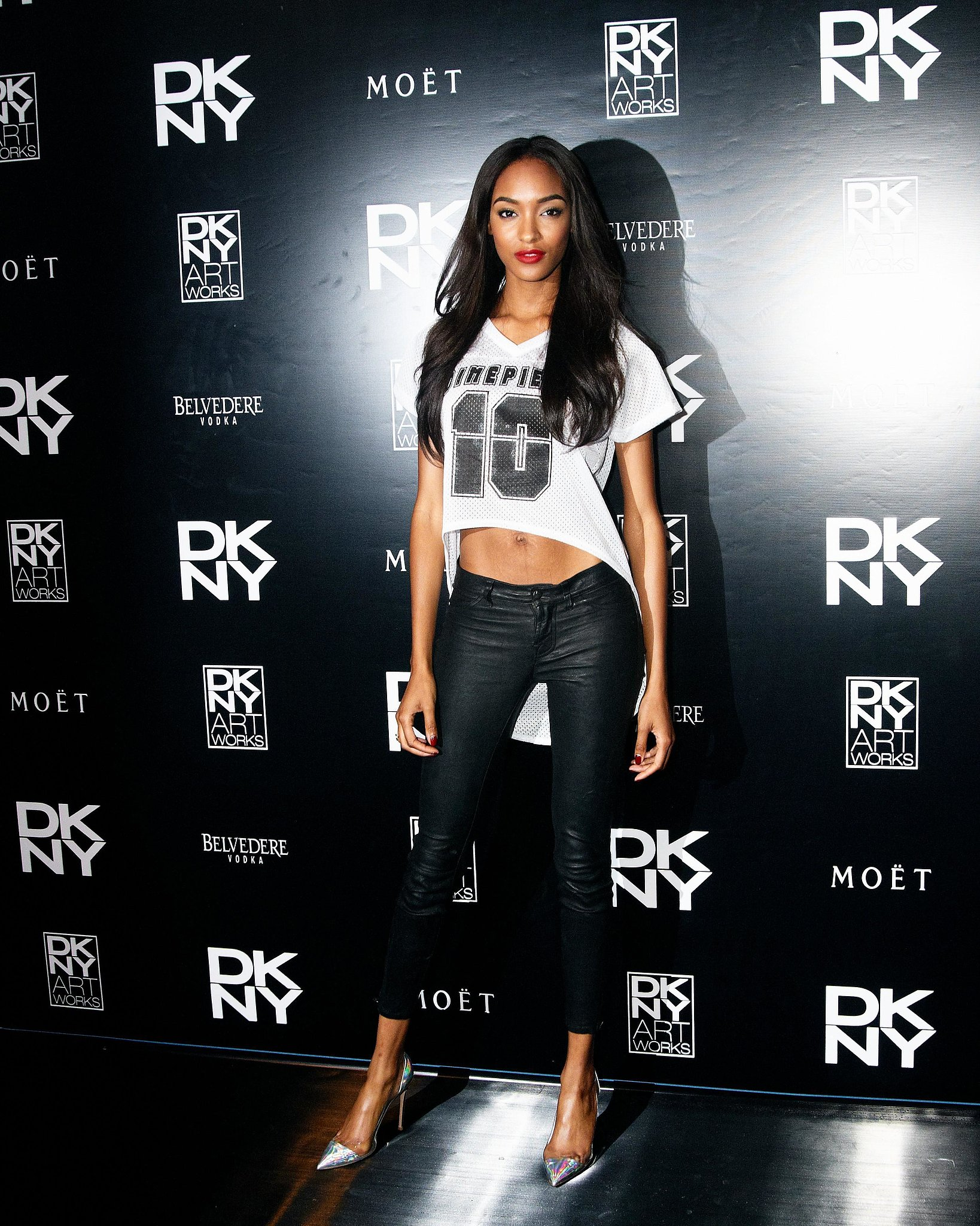 Jourdan Dunn at the launch party for DKNY Artworks in London.