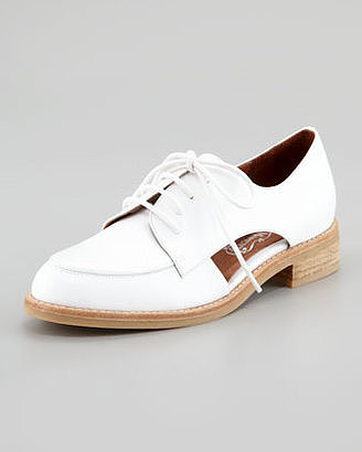 Cutouts are a great way to make your oxfords stand out from the herd, so hop on these Jeffrey Campbell Rossdale white oxfords ($150).