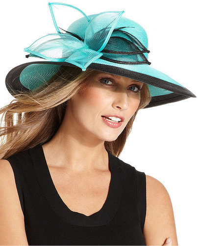 August Hat, Coral Wide Brim Church Hat