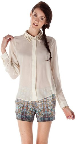Romeo & Juliet Couture Stud Collar Blouse