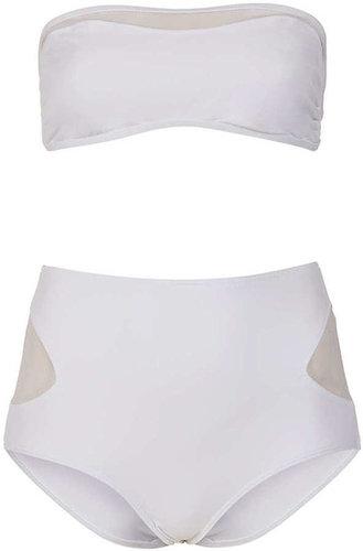White Sheer Panel Bikini