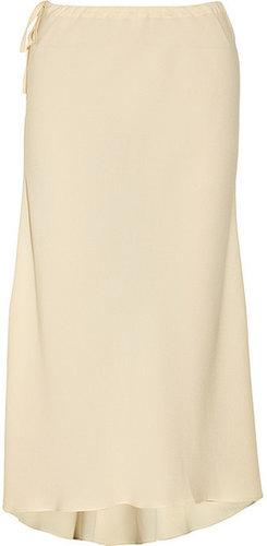 Vanessa Bruno Drawstring silk-crepe midi skirt