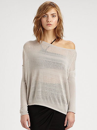 Helmut Lang Open-Knit Cotton-Blend Sweater