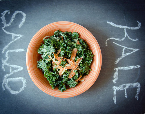 Kale Salad with Creamy Tahini Dressing