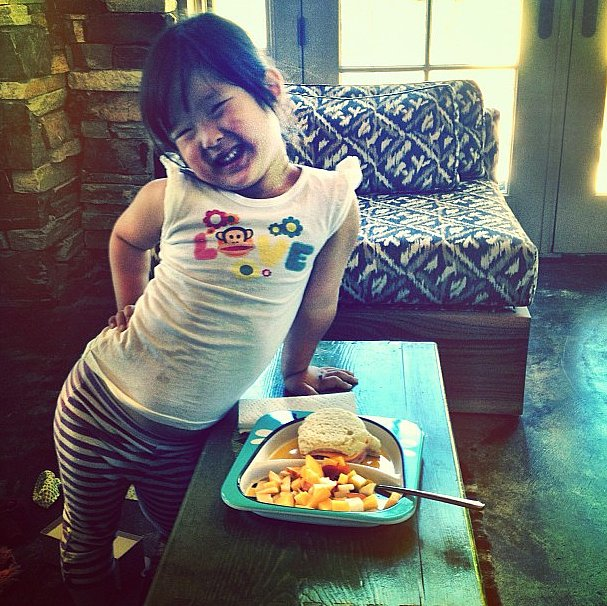 Naleigh Kelley enjoyed a homemade lunch made by her mama, Katherine Heigl. Source: Instagram user katiemheigl