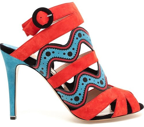 Nicholas Kirkwood Leather and Suede Sandals