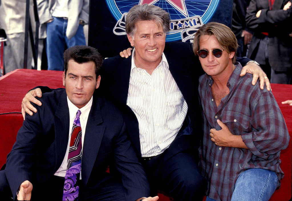Martin Sheen, Charlie Sheen and Emilio Estevez