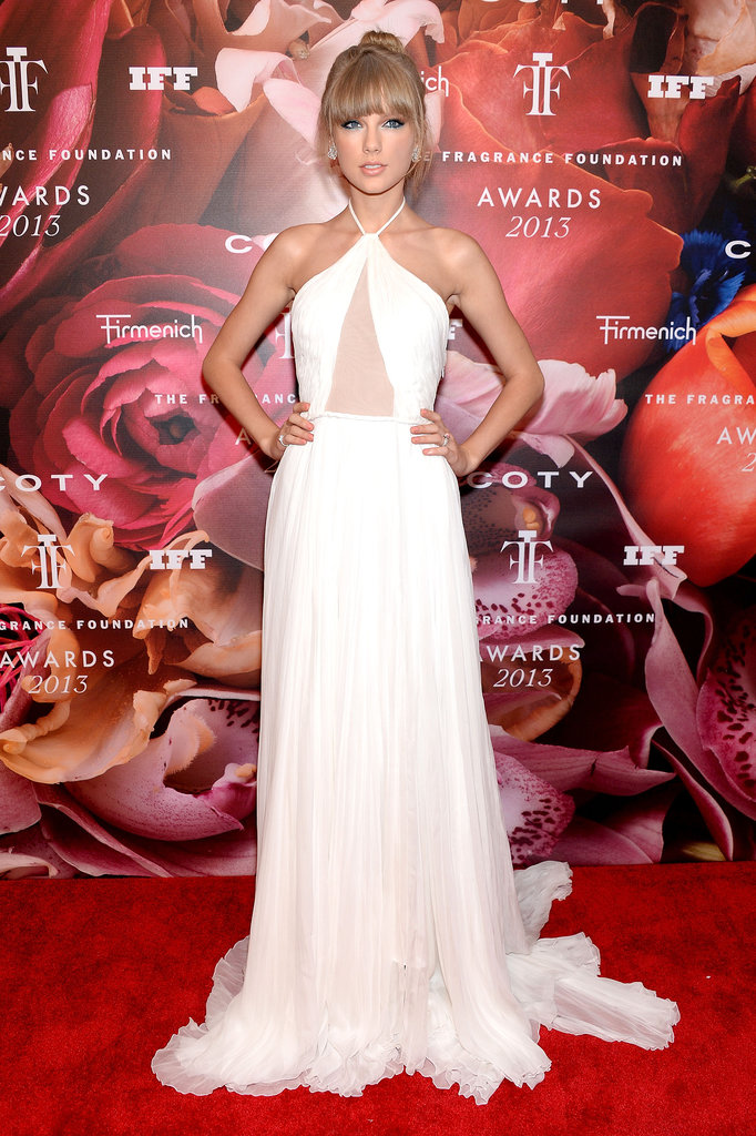 Taylor Swift was white-hot on June 13, when she attended the 2013 Fragrance Foundation Awards in New York.