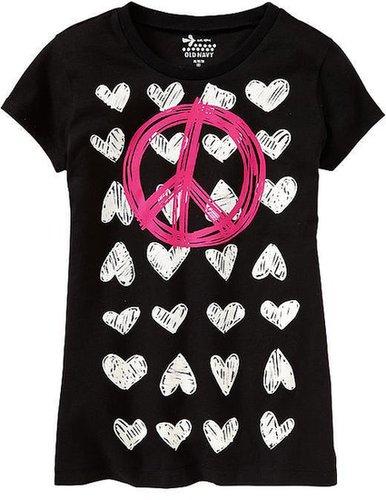 Girls Peace & Love Tees