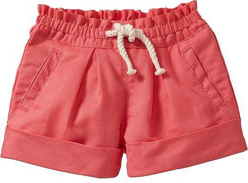 Rope-Drawstring Linen-Blend Shorts for Baby