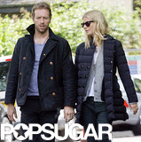 Gwyneth Paltrow took a stroll with her husband, Chris Martin.