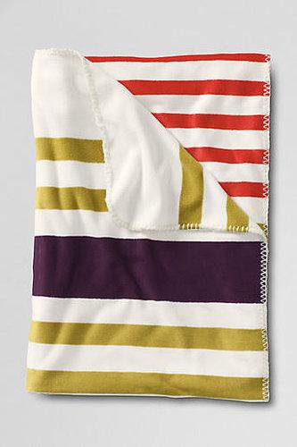 Stripe Fleece Throw