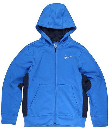 Nike Kids - Shield FZ KO Hoody (Little Kids/Big Kids) (Signal Blue/Obsidian/Matte Silver) - Apparel