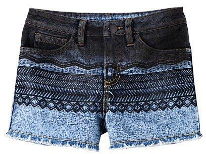 D-Signed Girls' Denim Shorts - Indigo