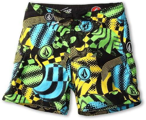 Volcom Kids - Maguro Circles Boardshort (Toddler/Little Kids) (Green) - Apparel