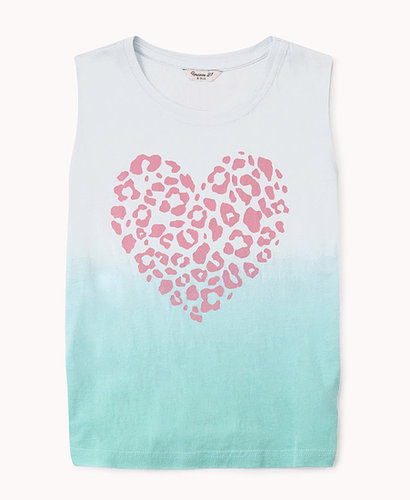 FOREVER 21 girls Ombré Heart Muscle Tee