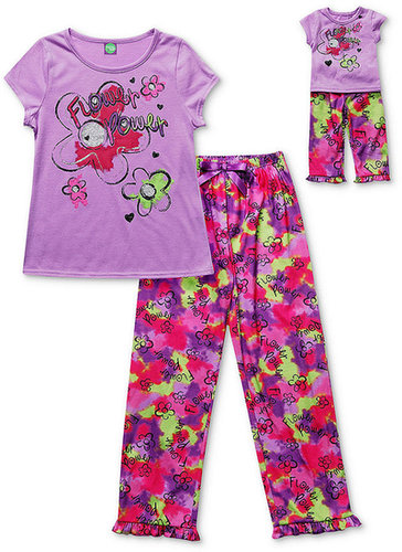 Dollie & Me Kids Pajamas, Girls or Little Girls Top, Pants and Matching Doll Outfit