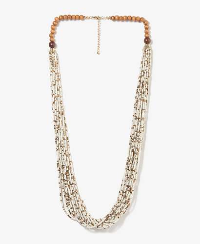 FOREVER 21 Beaded Tribal Necklace