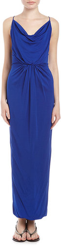 Cut25 by Yigal Azrouel Jersey Strappy-Back Gown, Ultramarine