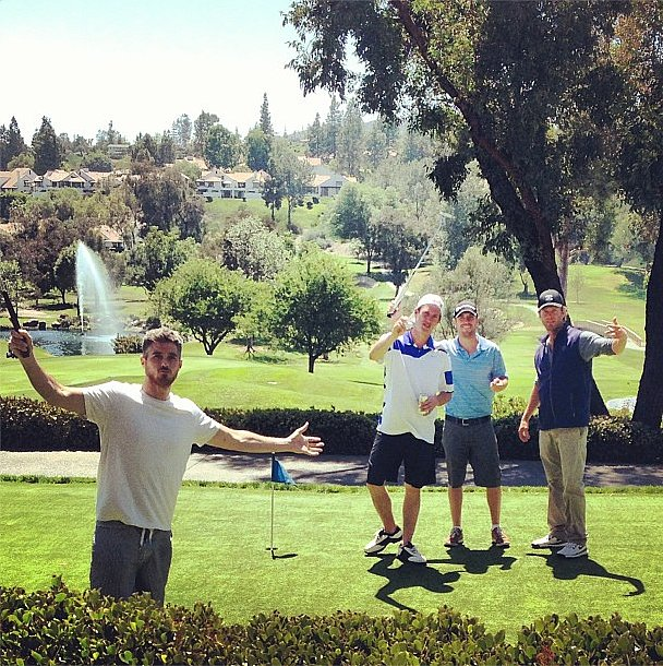 Dave Annable and Eric Johnson golfed with the guys.  Source: Instagram user asands78