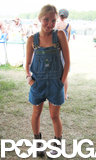 Audrey drew us in with her throwback staples: a great pair of denim overalls and silver Doc Martens.