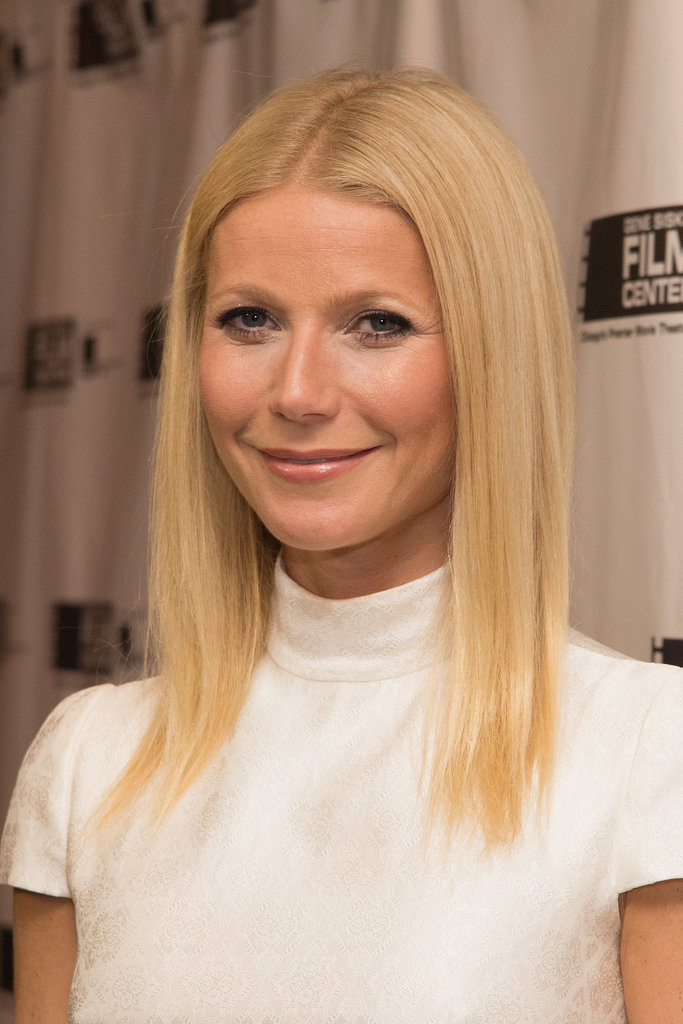 Gwyneth Paltrow went for a simple look at the award ceremony.