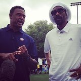 Snoop Lion visited a children's football game on Father's Day. Source: Instagram user snoopdogg