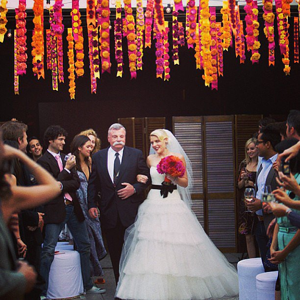Since Father's Day fell on her anniversary, Busy Philipps killed two birds with one stone by sharing this photo from her wedding day. Source: Instagram user busyphilipps