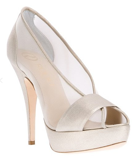 The sheer detail on these Rodo peep-toe pumps ($352, originally $503) gives them a subtle sexiness.