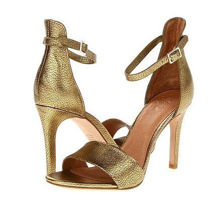 The raised back on these Joie Jaclyn sandals ($275) give them that unique edge.