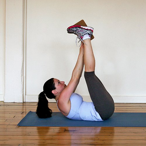 Ab Pass Exercise Using a Block