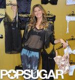 Gisele Bündchen launched her lingerie line, Gisele Bündchen Intimates, in Brazil.