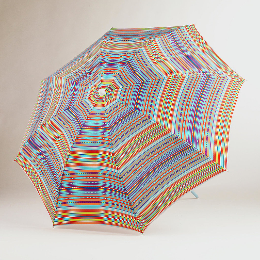 This multicolored, striped umbrella ($17) fr