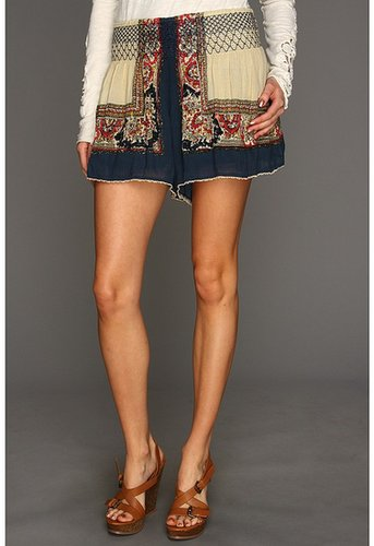 Free People - Scarf Printed Skort (Navy Combo) - Apparel