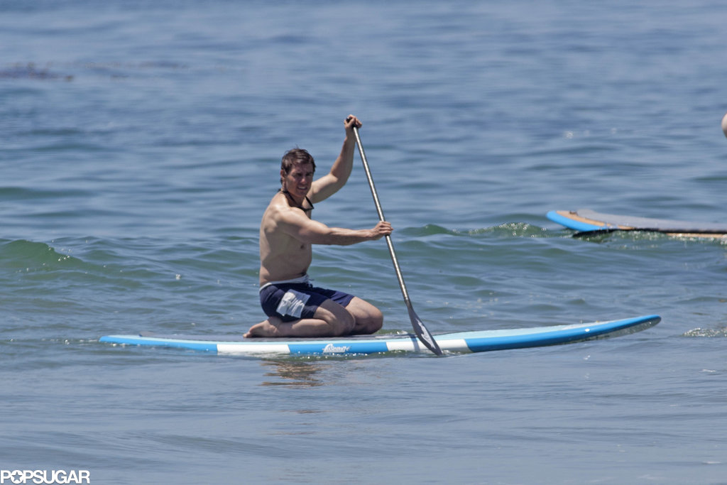 Tom Cruise spent Father's Day shirtless in Malibu.