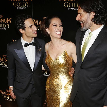 Zac Posen Gold Dress Magnum Interview