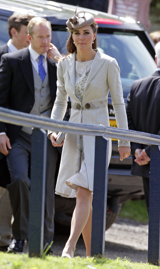 Kate Middleton kept a low profile on June 2012 when she attended a pal's wedding with Prince William in Grantham, England.