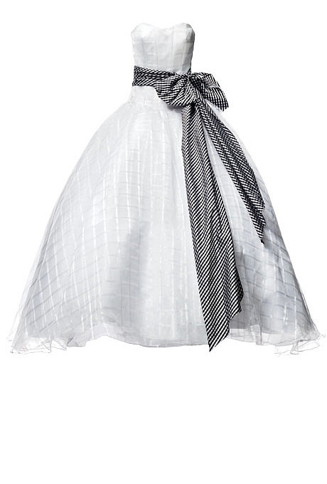 Organza With a Gingham Sash $2,300, Isaac Mizrahi exclusively for Kleinfeld Browse thousands of wedding dresses. Related: Fall 2013 Wedding Dress Trends