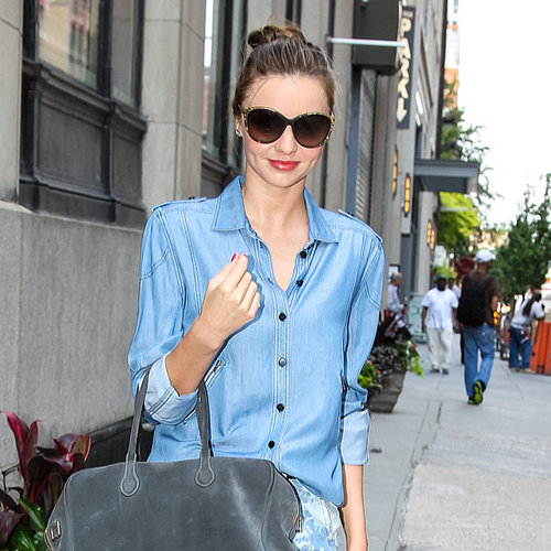 Miranda Kerr in Short Shorts Running Errands in NYC