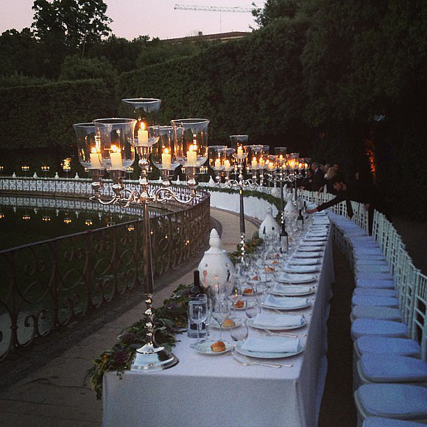 Just half the seating at the final night's dinner at the Boboli Gardens.