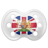 So, we doubt that the royal baby will actually be sucking on this Coat of Arms Union Jack Baby Pacifier ($16) — called a dummy in the UK — but it still is cute!