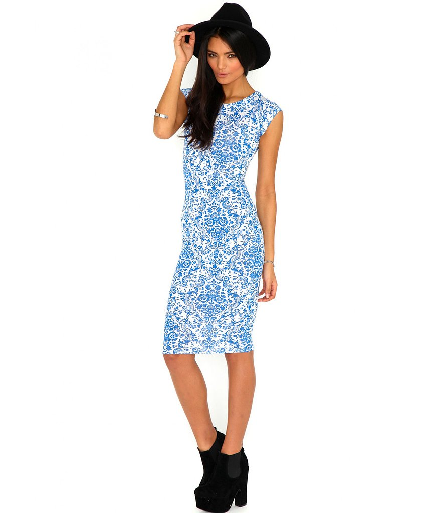 We fell for the sweet print of this Missguided dress ($25) instantly and love the lower hemline for work days.