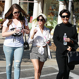 The Kardashians Step Out After Baby Announcement