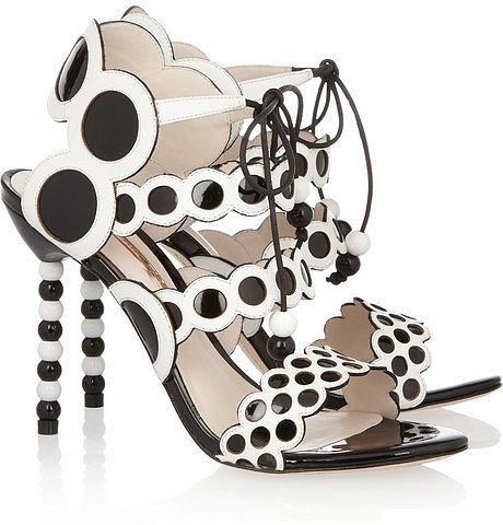 Sophia Webster Yayoi patent and leather sandals