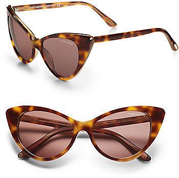 Tom Ford Eyewear Nikita Cat's-Eye Sunglasses/Havana