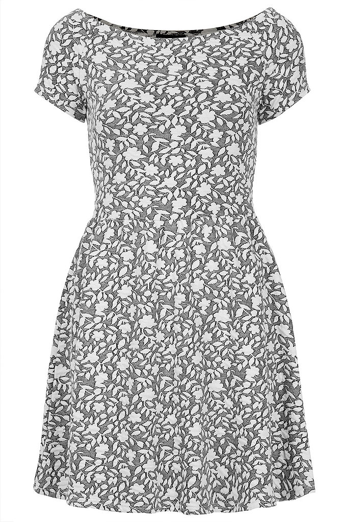 Live in black? Get out of the rut, slowly, by subbing in gray. We love this Topshop jacquard print ($40, originally $64).