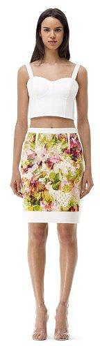 Kenson Printed Pencil Skirt