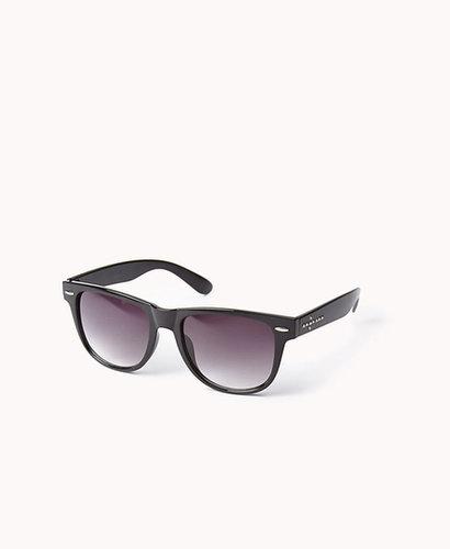 FOREVER 21 F4572 Studded Cross Wayfarer Sunglasses